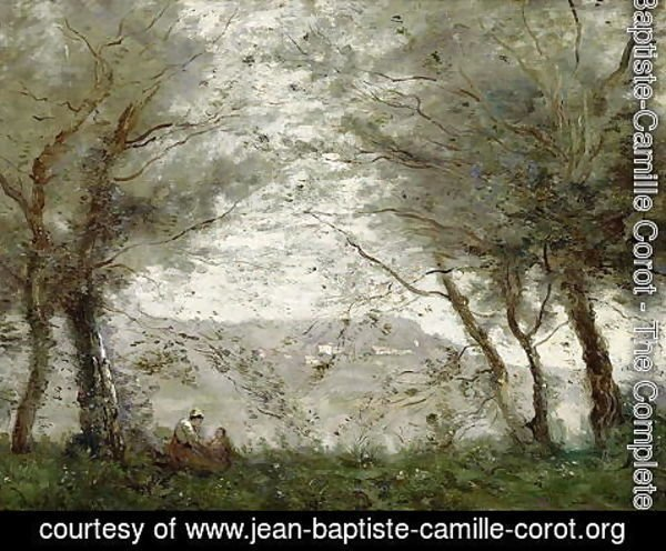 Jean-Baptiste-Camille Corot - The Pond at Ville-d'Avray through the Trees, 1871