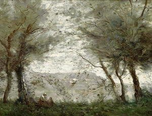 The Pond at Ville-d'Avray through the Trees, 1871