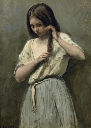 Jean-Baptiste-Camille Corot - Young Girl at her Toilet