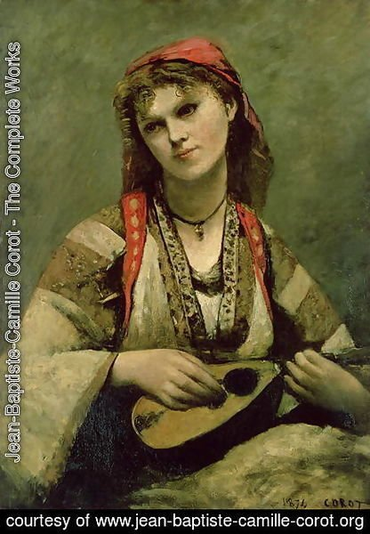 Christine Nilson (1843-1921) or The Bohemian with a Mandolin, 1874