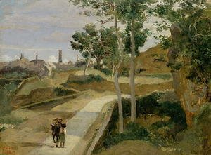 Jean-Baptiste-Camille Corot - Road from Volterra