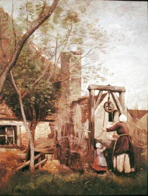 Jean-Baptiste-Camille Corot - The Well, 1850-60
