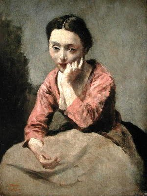 Woman in a Pink Blouse
