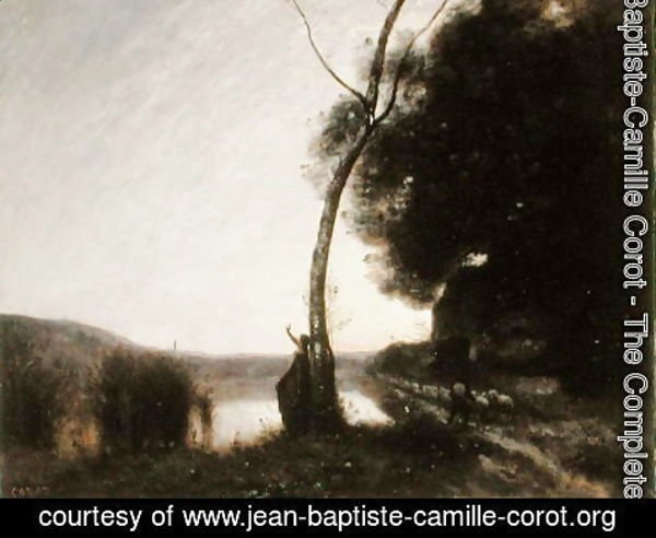 Jean-Baptiste-Camille Corot - The Evening Star, 1864