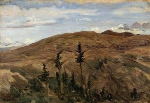Jean-Baptiste-Camille Corot - Mountains in Auvergne, 1841-42