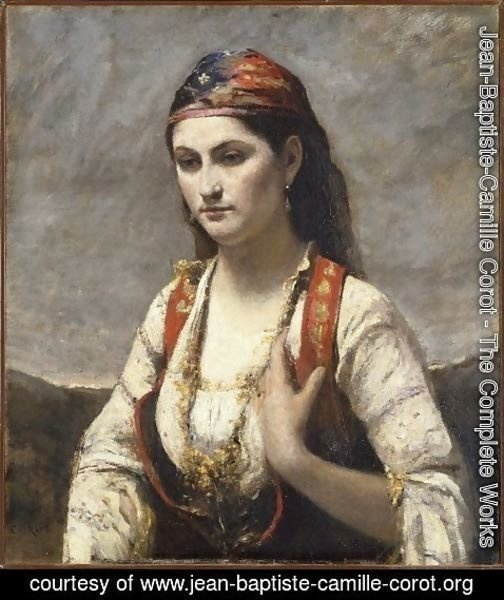 Jean-Baptiste-Camille Corot - The Young Woman of Albano, 1872