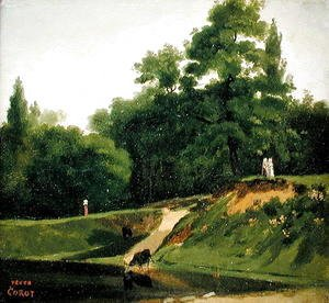 Jean-Baptiste-Camille Corot - Villa d'Avray - Banks of the Stream near the Corot Property