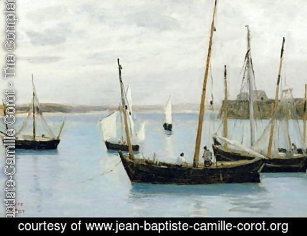 Jean-Baptiste-Camille Corot - Granville, Fishing Boats, c.1860