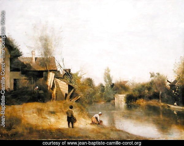 Riverbank at Mery sur Seine, Aube, c.1870