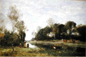 Jean-Baptiste-Camille Corot - Souvenir of the Bresle at Incheville