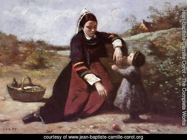 Breton Woman and her Little Girl, 1855-65