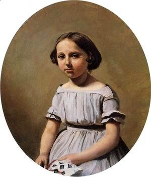 Jean-Baptiste-Camille Corot - The Eldest Daughter of M. Edouard Delalain (Mme. de Graet) c.1845-50