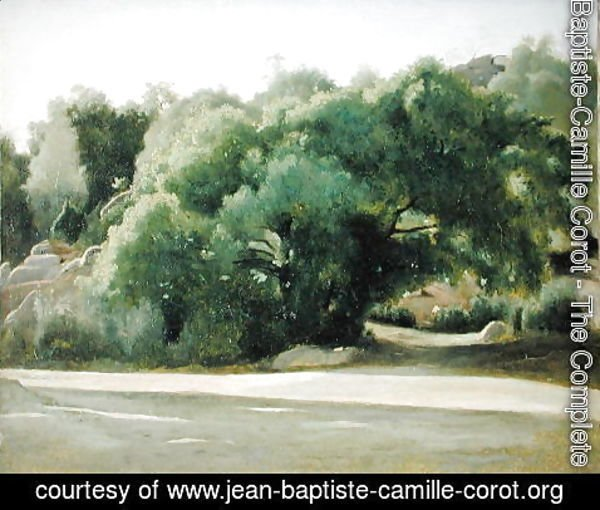Jean-Baptiste-Camille Corot - Fontainebleau, the Road to Chailly, c.1822-24