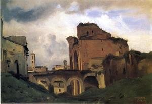 Jean-Baptiste-Camille Corot - Basilica of Constantine, c.1826-27