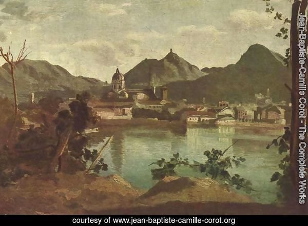 The Town and Lake Como, 1834