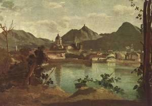 Jean-Baptiste-Camille Corot - The Town and Lake Como, 1834