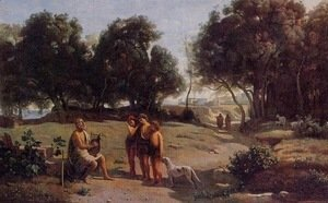Jean-Baptiste-Camille Corot - Homer and the Shepherds in a Landscape, 1845