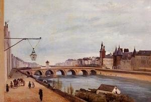 Jean-Baptiste-Camille Corot - View of the Pont au Change from Quai de Gesvres, Summer 1830