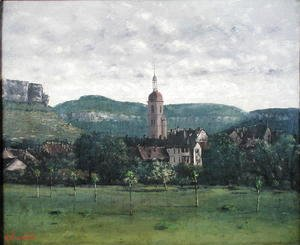 Jean-Baptiste-Camille Corot - Landscape with Church
