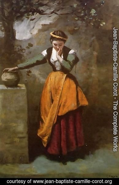 Jean-Baptiste-Camille Corot - Dreamer at the Fountain, c.1860
