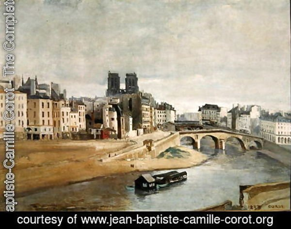 Jean-Baptiste-Camille Corot - The Seine and the Quai des Orfevres, 1835