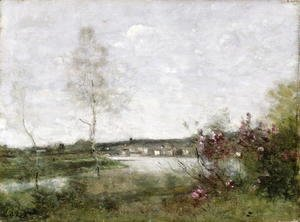Distant View of Corbeil, Morning, c.1870