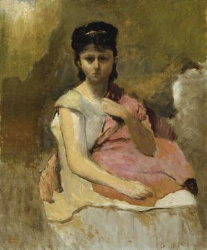 Woman with a Pink Shawl, c.1868