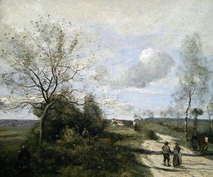 Jean-Baptiste-Camille Corot - Saintry, near to Corbeil, the white road