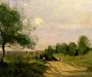 Jean-Baptiste-Camille Corot - The Wagon, Souvenir of Saintry, 1874