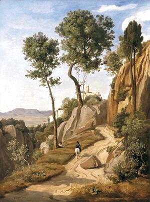 Jean-Baptiste-Camille Corot - View of Volterra, 1838