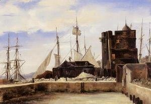 Jean-Baptiste-Camille Corot - Honfleur - The Old Wharf