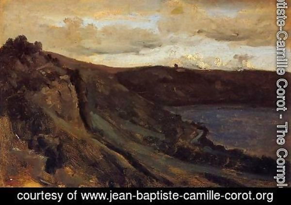 Jean-Baptiste-Camille Corot - The Tibre River Hemmed in by the Collines
