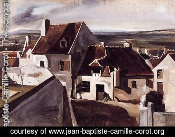 Jean-Baptiste-Camille Corot - The Inn at Montigny-les-Cormeilles