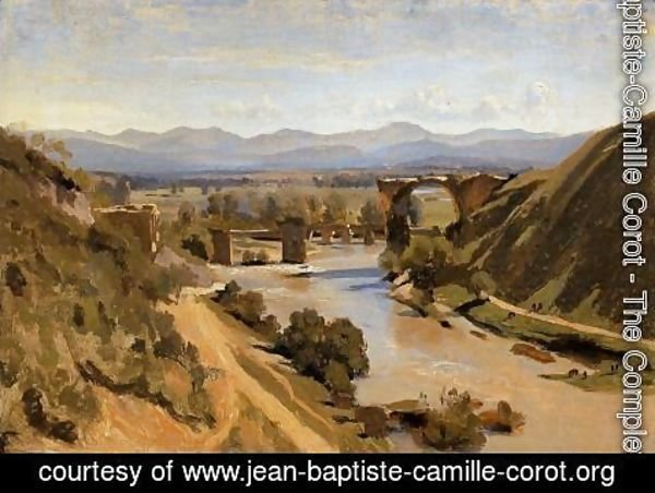 Jean-Baptiste-Camille Corot - Narni - The Ponte Augusto over the Nera