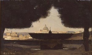 Jean-Baptiste-Camille Corot - Rome - The Fountain of the Academie de France