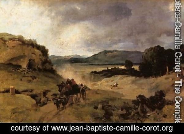 Jean-Baptiste-Camille Corot - The Roman Campagna I