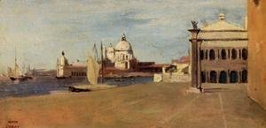 Jean-Baptiste-Camille Corot - Venice, the Grand Canal, View from the Esclavons Quay