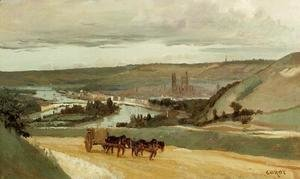 Jean-Baptiste-Camille Corot - Rouen Seen from Hills Overlooking the City