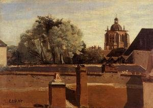 Jean-Baptiste-Camille Corot - Orleans - View from a Window Overlooking the Saint-Peterne Tower