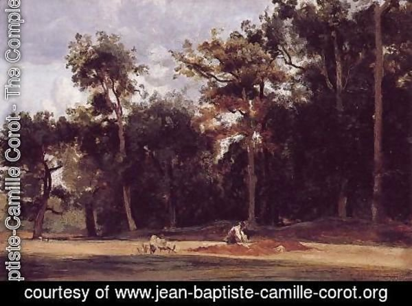 Jean-Baptiste-Camille Corot - The Paver of the Chailly Road