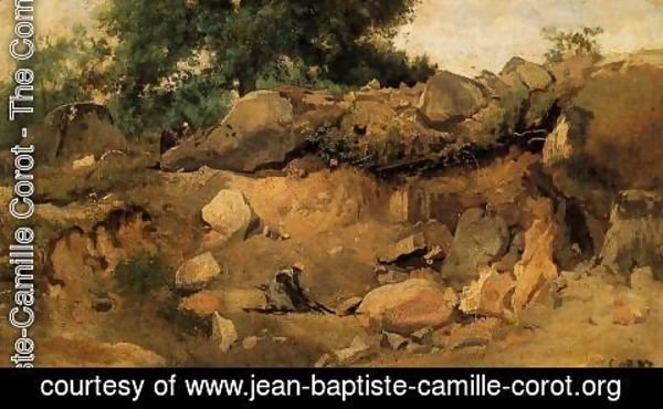 Jean-Baptiste-Camille Corot - Quarry of the Chaise-Mre at Fontainebleau