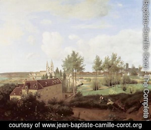 Jean-Baptiste-Camille Corot - Soissons Seen from Mr. Henry's Factory
