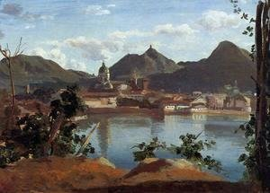 Jean-Baptiste-Camille Corot - The Town and Lake Como