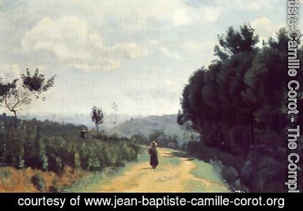 Jean-Baptiste-Camille Corot - The Severes Hills - Le Chemin Troyon