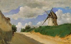 Jean-Baptiste-Camille Corot - Windmill on the Cote de Picardie, near Versailles
