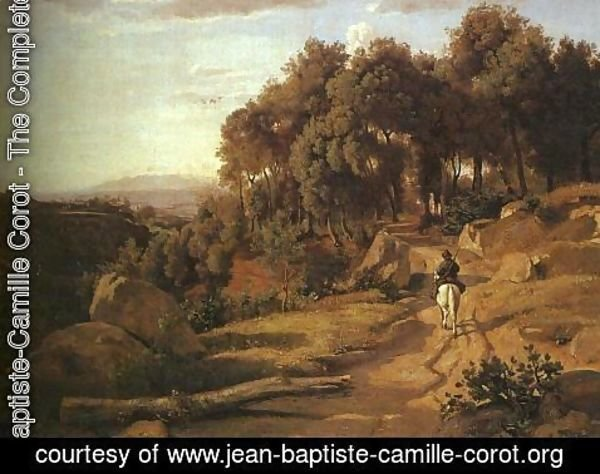 Jean-Baptiste-Camille Corot - A View near Colterra
