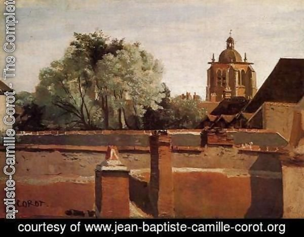Jean-Baptiste-Camille Corot - Bell Tower of the Church of Saint-Paterne at Orleans