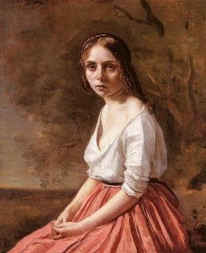 Jean-Baptiste-Camille Corot - Young Woman
