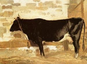 Jean-Baptiste-Camille Corot - Cow in a Stable