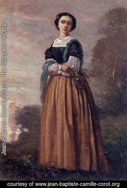 Jean-Baptiste-Camille Corot - Portrait of a Standing Woman